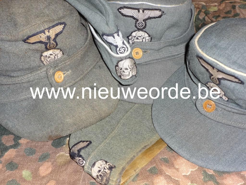 Verschillende Waffen-SS schuitjes en Feldmütze.