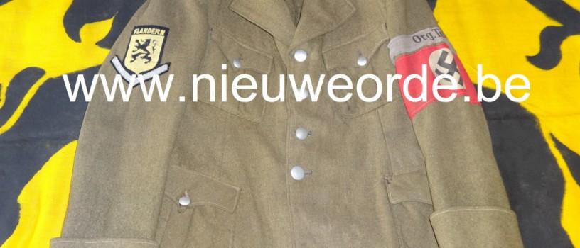 Uniformjas Vlaamse Schutzkommando-Organisation Todt (SK-OT)