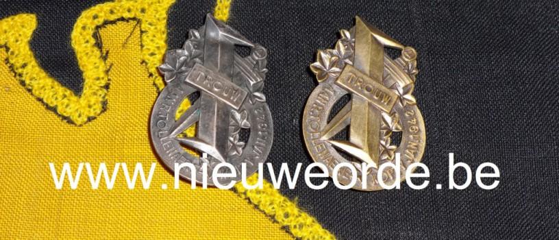 Reimond Tollenaere Trouwkenteken in brons en zilver