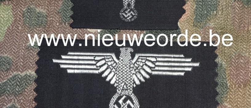 Vlaamse makelij Waffen-SS armadelaar en adelaar voor het schuitje