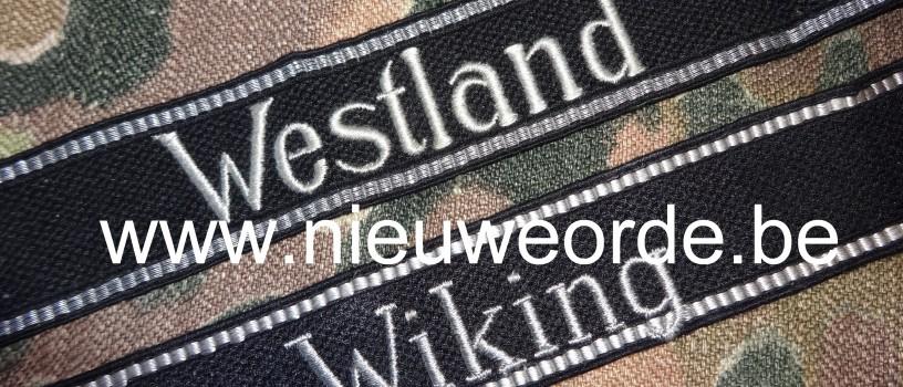 Waffen-SS RZM 'Westland' en 'Wiking' armbanden
