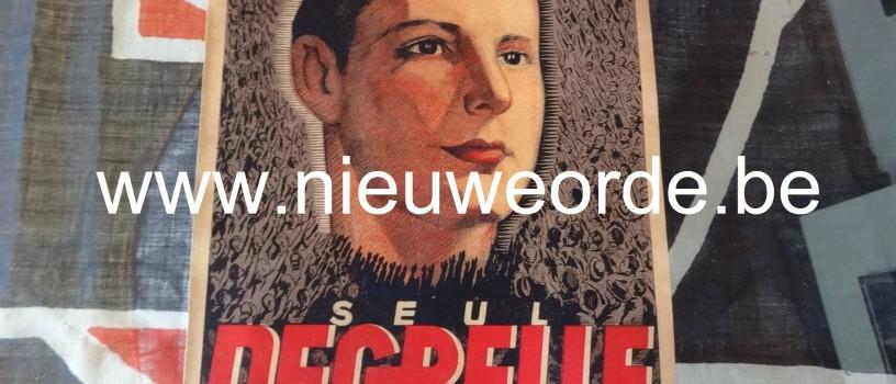 'Seul Degrelle sauvera le pays': Rex verkiezingsaffiche, parlementsverkiezingen 1936