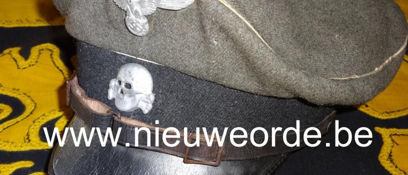 Belgische makelij Waffen-SS Schirmmütze voor manschappen en onderofficieren