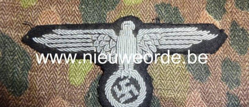 Belgische makelij handgeborduurde SS officier armadelaar