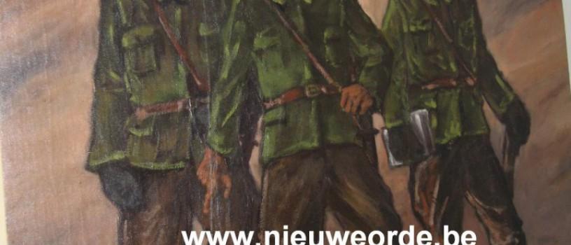 """""""Drie Dinaso's"""", schilderij van Karel M. Demuynck (1899-1949)"""